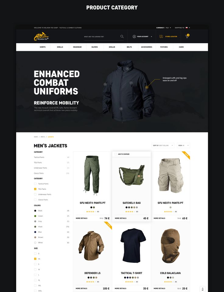 Ecommerce Hiking & Outdoor Clothing Shop. Over a decade since Helikon-Tex was established their business activity was mainly concentrated on military surplus sales. However, changing trends and market demand in the mid-nineties set a new development direc…