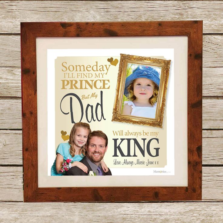 Personalised Fathers Day gift from Memories By mel with a beautiful quote and using your two fave photos
