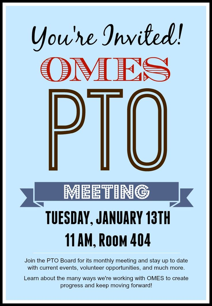 The  Best Pto Flyers Ideas On   Pta Pta Meeting And