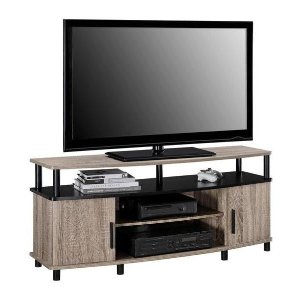 entertainment center for 50 inch tv. Ameriwood Home Carson Sonoma Oak 50-inch TV Stand ($162) ❤ Liked On Polyvore Featuring Home, Furniture, Storage \u0026 Shelves, Entertainment Units, Fla\u2026 Center For 50 Inch Tv F