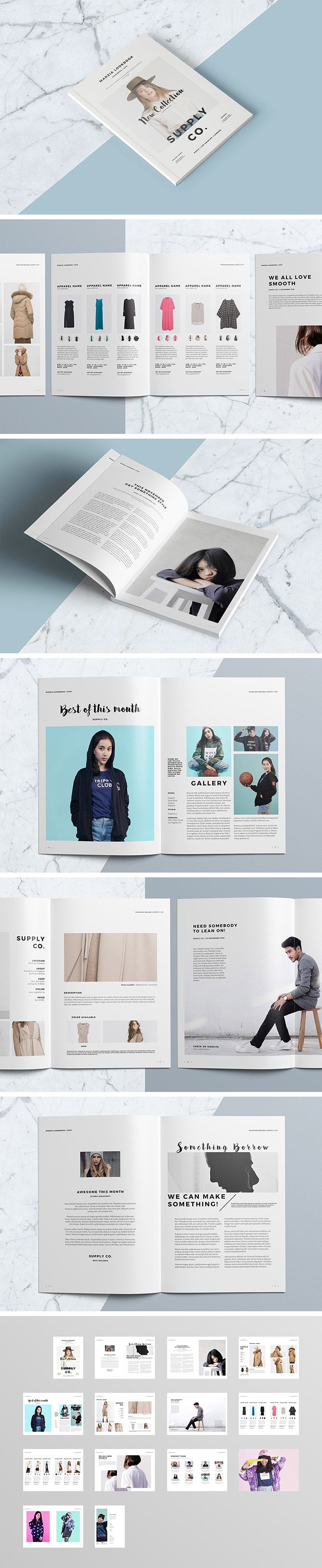 InDesign Lookbook Template - download freebie by PixelBuddha