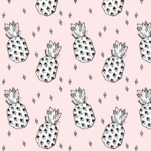 pineapple pink - elvelyckan by elvelyckan on spoonflower