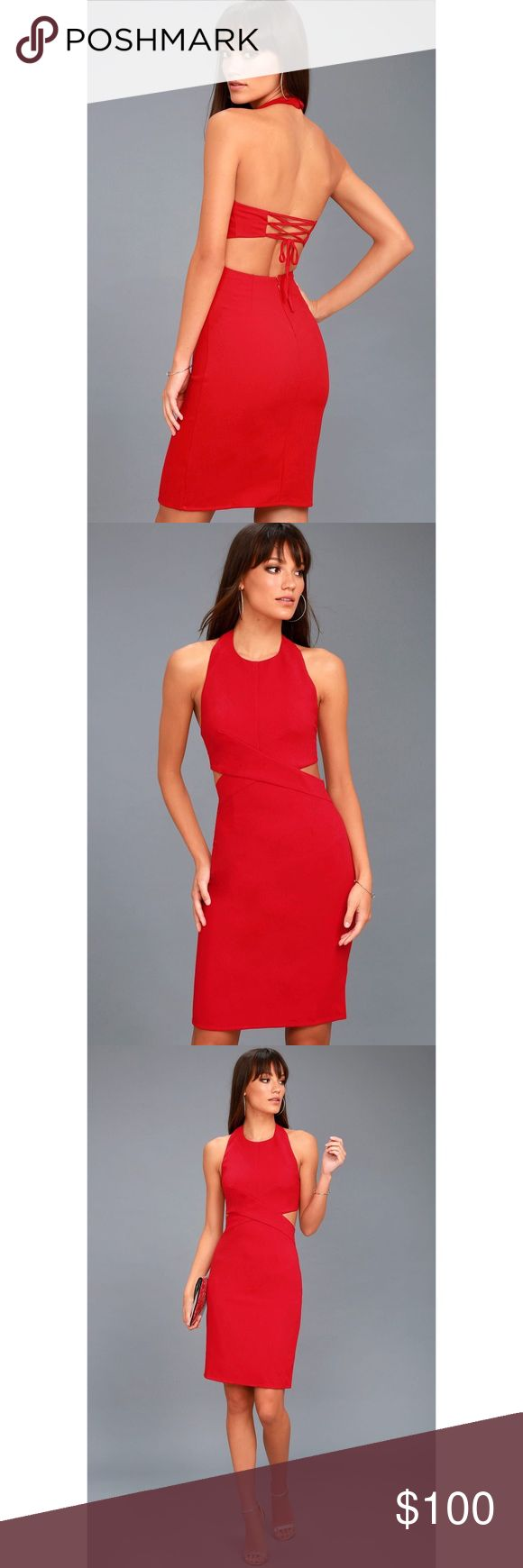 COMING SOON Lulu's Uniquely Chic Bodycon Halter Coming soon! Lulu's uniquely chic red Bodycon halter dress! NWT! Like this listing to be notified when it is in stock! Small and medium Lulu's Dresses Midi