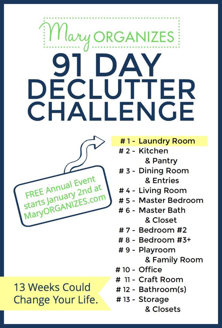 Calendar Organization Tips : Declutter challenge starts january st