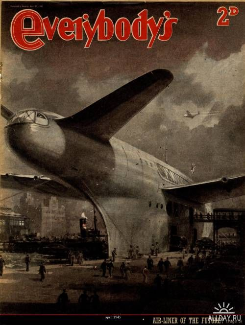 Air-Liner Of The Future - April 1945