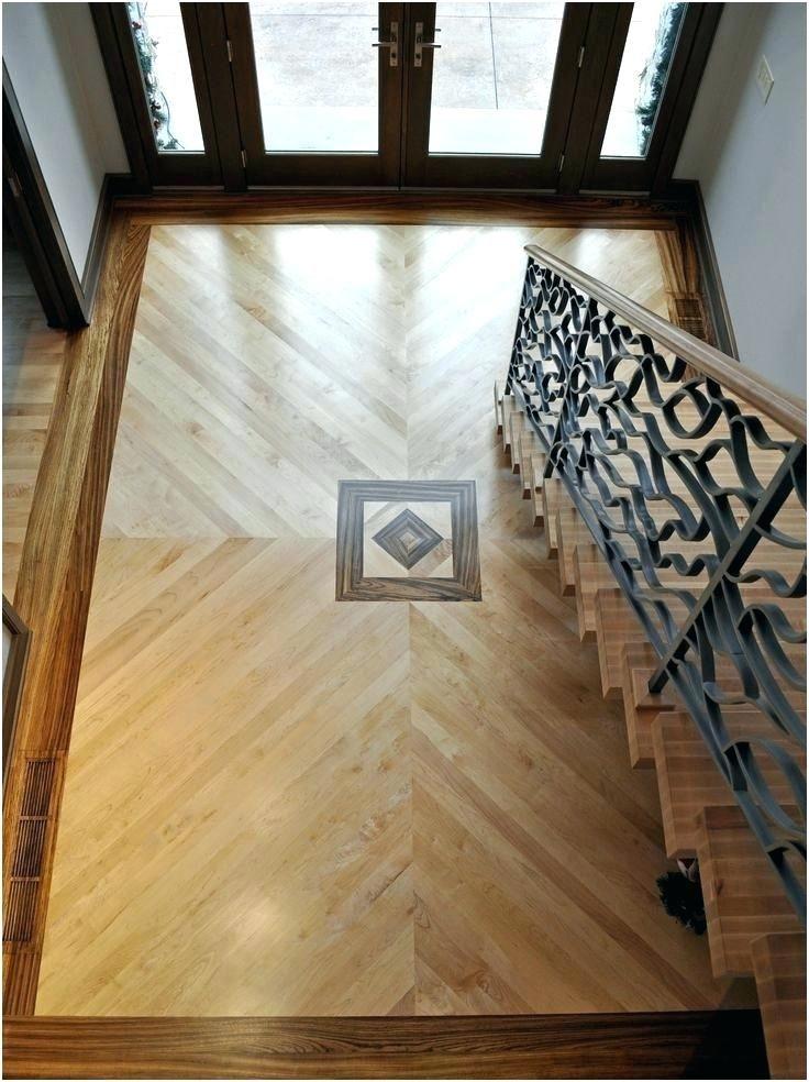 Inlay Wood Floor Foyer With Maple Plank Floor With Zebra Wood