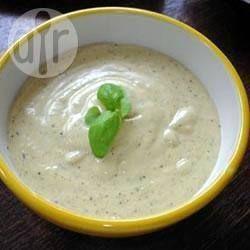 Foto recept: Dip van blauwe kaas