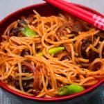 Burnt Garlic Noodles Recipe / Burnt Chilli Garlic Noodles Recipe / Fried Garlic Noodles / Garlic Noodles Recipe