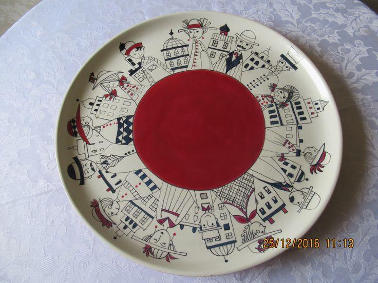 plato cerámica pintado a mano  patricia aliste arte imagina