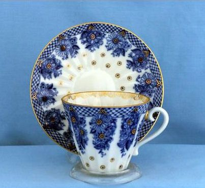 Lomonosov Russian Porcelain Bridesmaid Tea Cups: