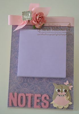Acrylic Frame Post it note holder