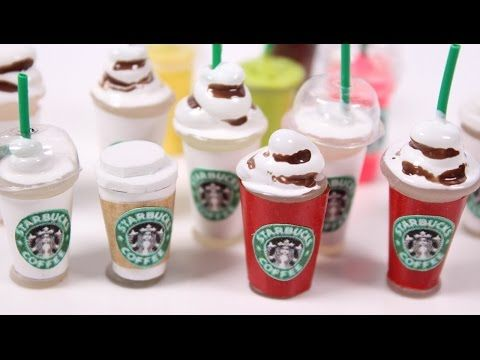 how to: mini Starbucks (without polymer clay)