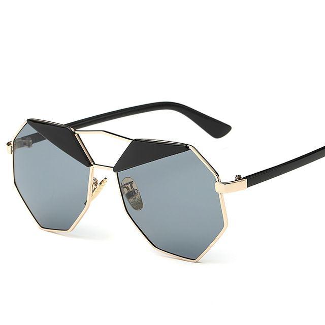 BOUTIQUE Fashion Women Cat Eye Sunglasses Women Brand Designer Double-Bridge Shades UV400 Steampunk Sunglasses Great, huh? Visit us