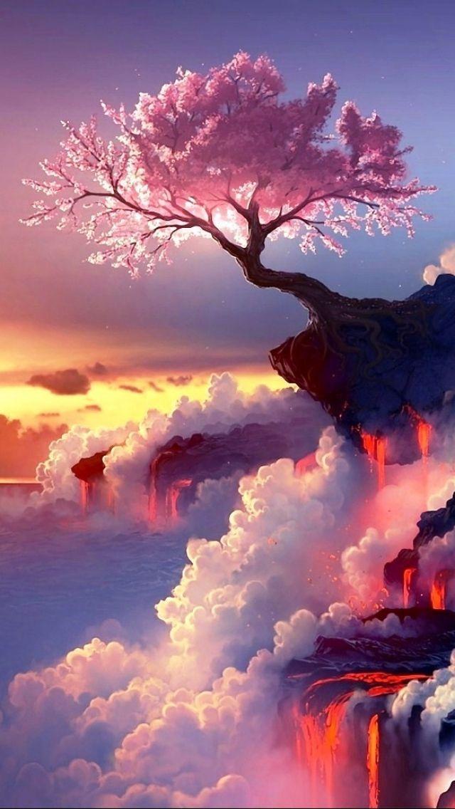 Art Wallpaper Landscape Art Anime Wallpaper Iphone 480x800 Wallpaper Phone Wallpaper In 2020 Landscape Wallpaper Landscape Art Beautiful Nature Wallpaper