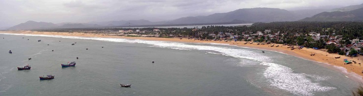Panorama view over a beach near Qui Nho'n