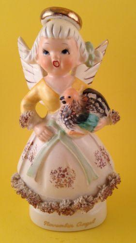 FUN-November-Birthday-Thanksgiving-Cute-Angel-with-Turkey-Figurine-Japan-2H2464