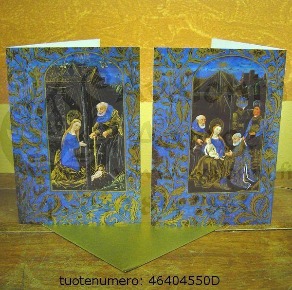 Jeesuksen syntymä, sininen/kulta