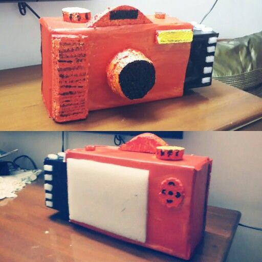 Pinhole Camera Modelmade Using Thermocol And Shoebox