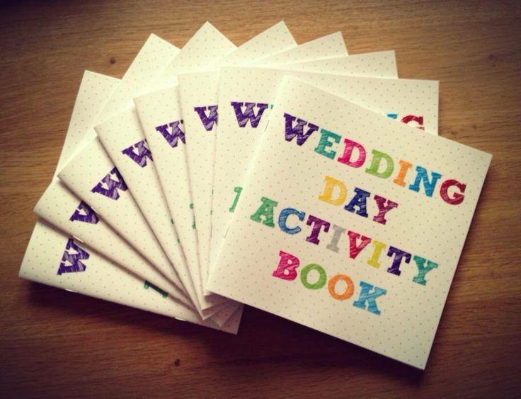 Wedding day activity books