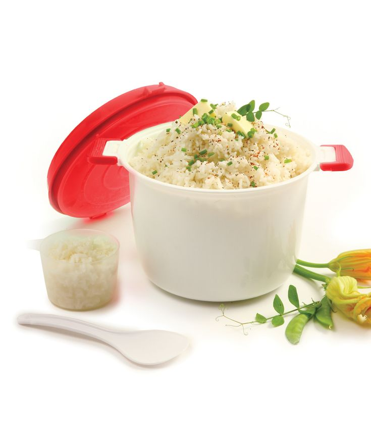 Red Microwave Rice Cooker
