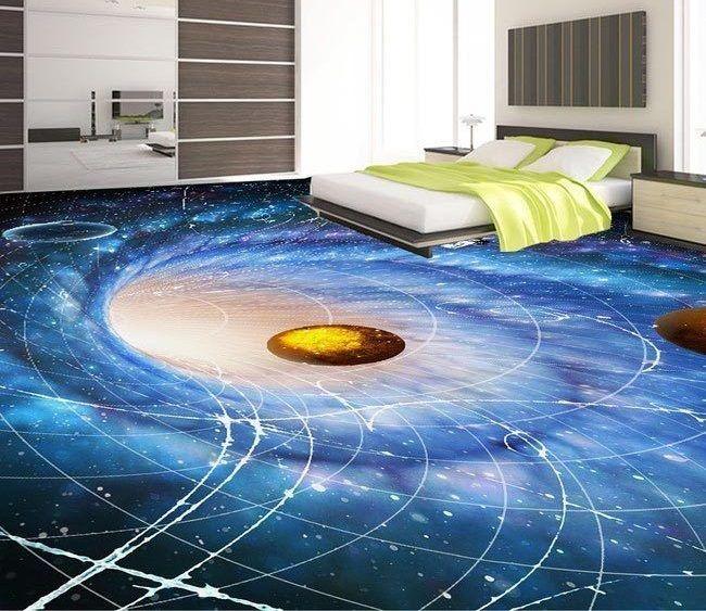 3d Flooring Art 3d Epoxy Floor Murals For Bedroom A Complete Guide To Installing A 3d Floor Art As A Self Leveling E Floor Wallpaper Floor Design Floor Murals
