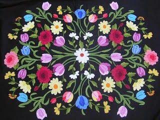 Cobertor bordado à mão - Antónia Polido