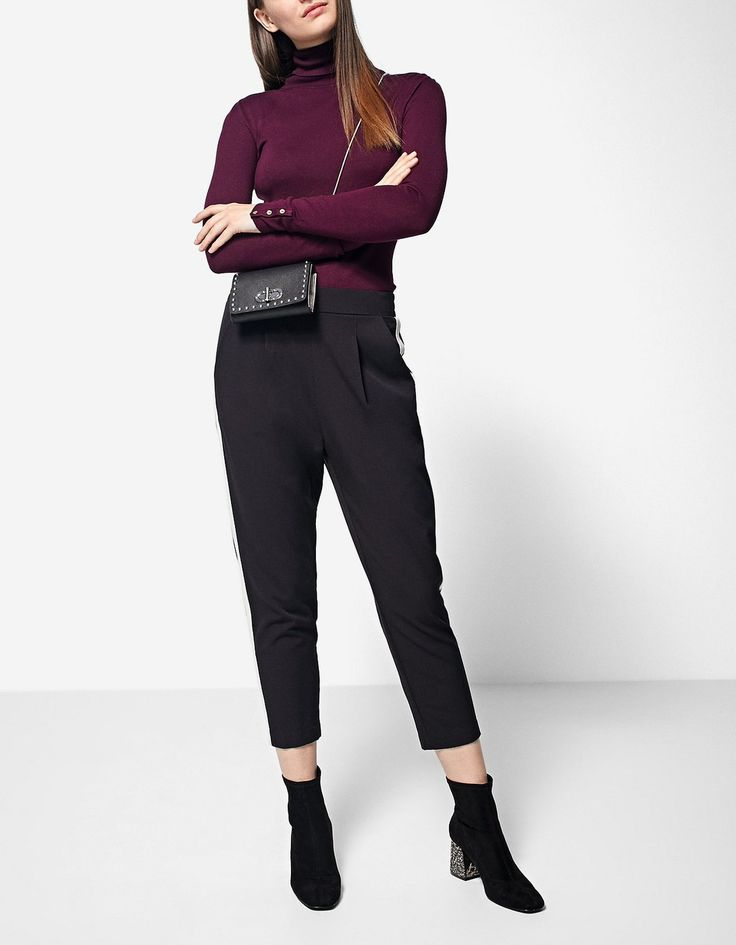 Polo neck sweater - Boots and ankle boots | Stradivarius Bosnia-Herzegovina