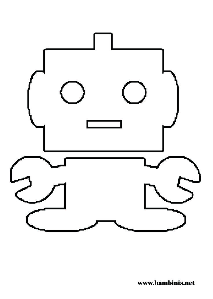 Robot Coloring Page Felt Board Ideas And Templates