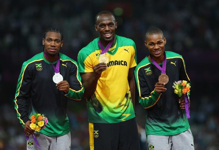 Usain Bolt, Yohan Blake, Warren Weir - Jamaican 200m medalists!