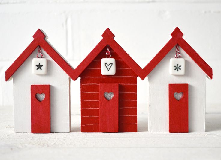 Christmas Beach Huts Row available from coastalhome.co.uk