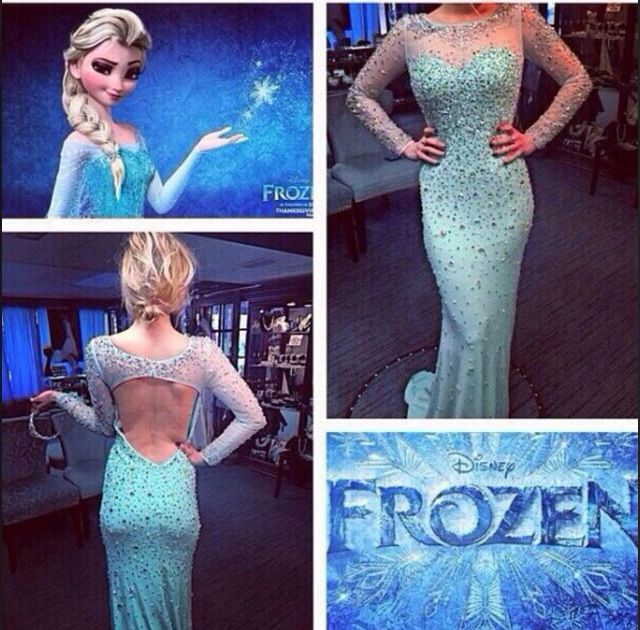 Frozen inspired dress  Ahhhhhhhh!!!! Can I have this