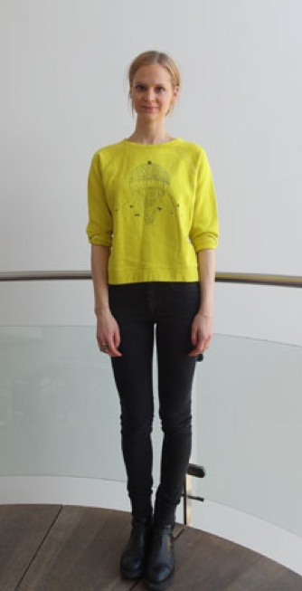 The lovely Bea Fagerholt wearing Stella Nova sweatshirt on Eurowoman.dk.