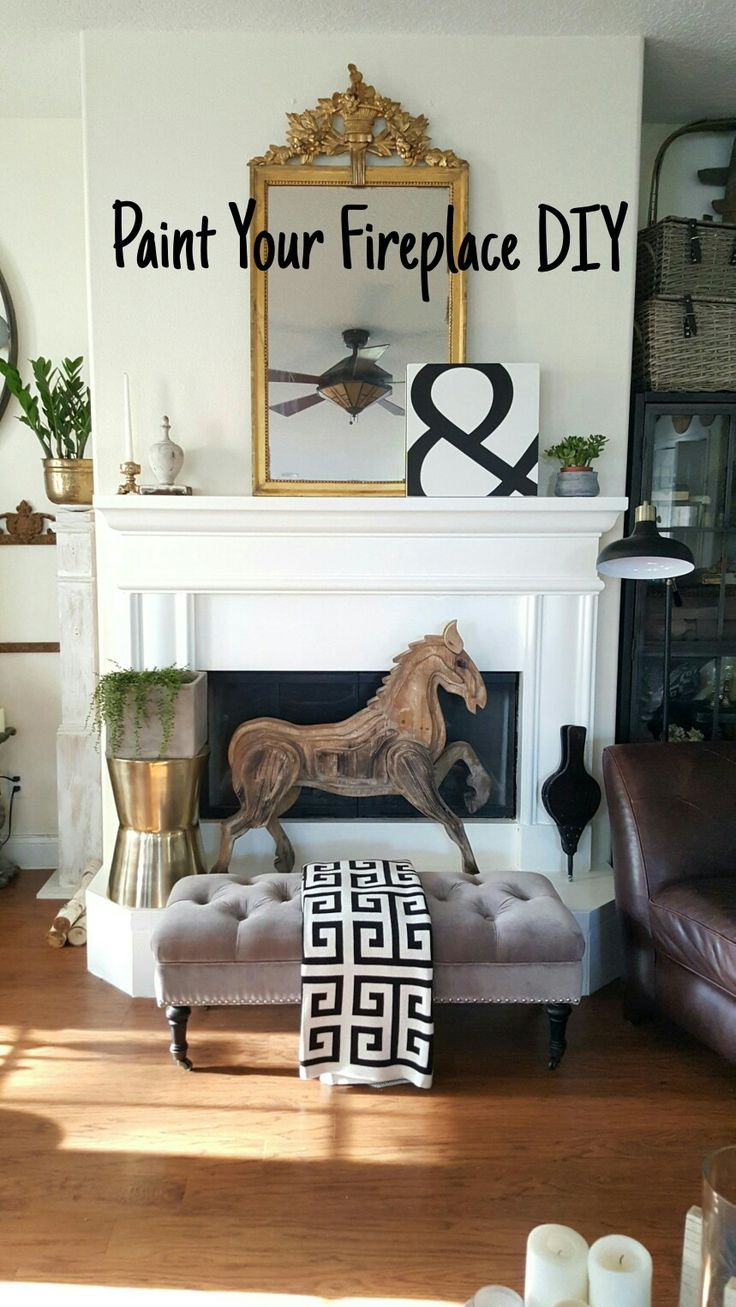 Paint Your Stone Fireplace Easy Tutorial On The Blog Beesnburlap