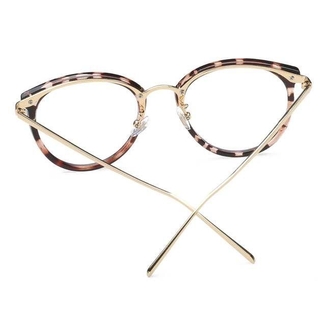 Oculos Oculos De Armacao Moda Vintage Preto De Metal Frame Otico