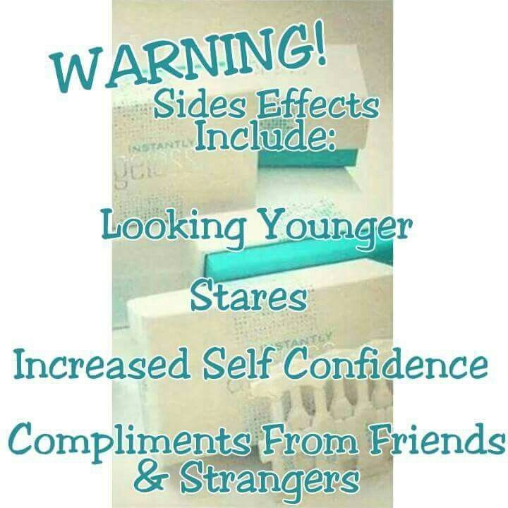 Jeunesse skin care Warning Sides Effects Includes Looking Younger, Stares, Increased Self Confidence, Compliments From Friends & Strangers, Amazing!!!! #nomorebags #antiaging #juenesse