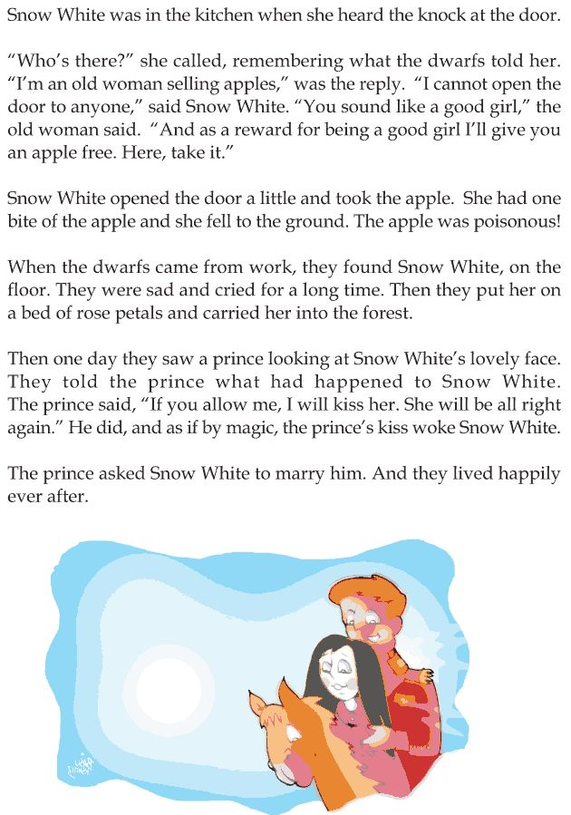 Grade 1 Reading Lesson 20 Fairy Tales - Snow White And The Seven Dwarfs (3) | English Reading ...