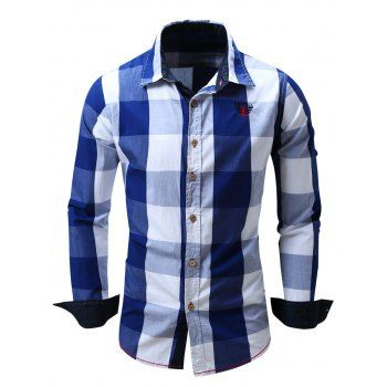 SHARE & Get it FREE | Men's Turn-Down Collar Plaid Pattern Long Sleeve ShirtFor Fashion Lovers only:80,000+ Items·FREE SHIPPING Join Dresslily: Get YOUR $50 NOW!