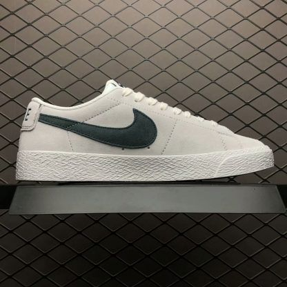 c0f0792829d Nike SB Blazer Zoom Low Leather Summit White Deep Jungle 864347-101 ...