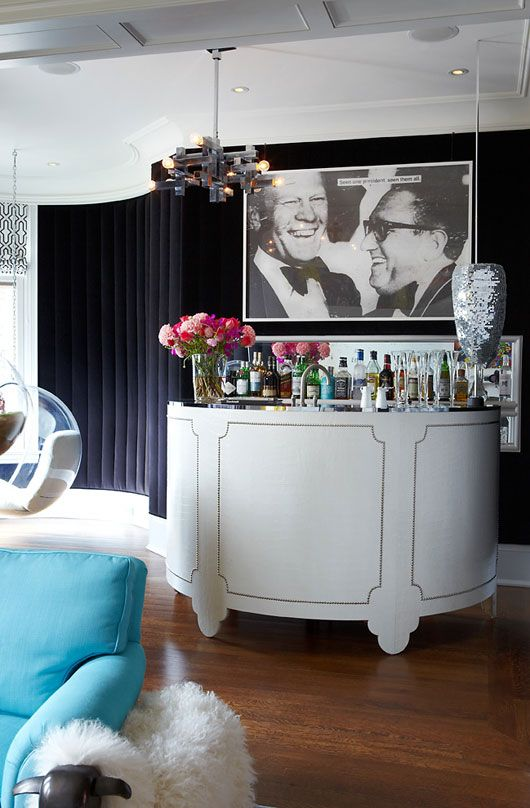 Digging this glammed up living room bar! :: from the @HGTV Canada blog, Style Sheet, Home of Gabe Gonda, Photography by Harry Gils