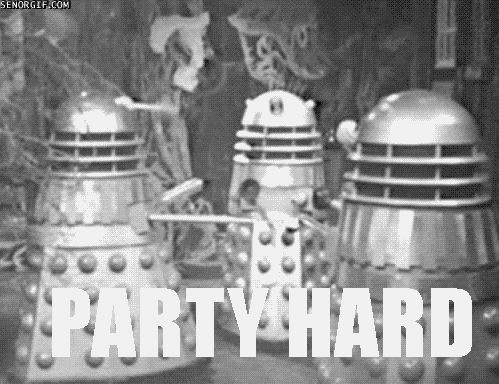 funny doctor who gifs | doctorwho-daleks-party-hard-gifshiz