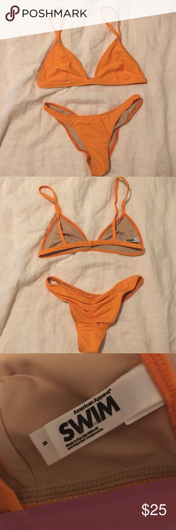 American apparel orange bikini Size small orange bikini from American apparel. Never worn, tried on once, washed. True to size. Final price, NO BIDS American Apparel Swim Bikinis