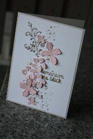 Polly kreativ: Lasst uns Hochzeit feiern - Karte mit Botanical Blooms und Timeless Textures von Stampin up zur Hochzeit