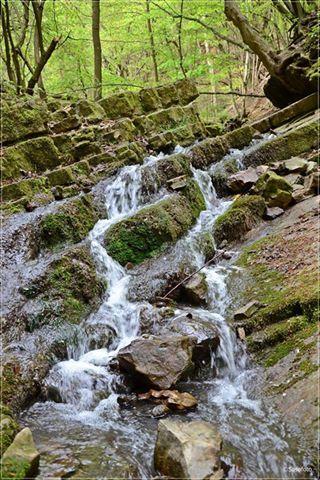 Ferde-vízesés (Kelet-Mecsek). Hungary