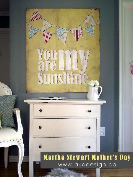 DIY Vintage You Are My Sunshine Sign {Martha Stewart} - aka design