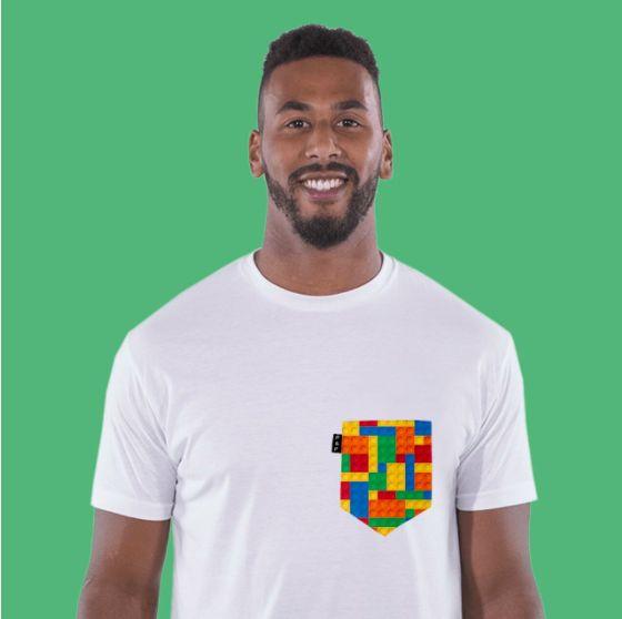 Men's clothing・Pocket tee・90's Toys・Lego・Throwback・Montreal ❖ Vêtements pour hommes・Col rond・Chandail à poche・Jouets・Années 90・Lego・Montréal