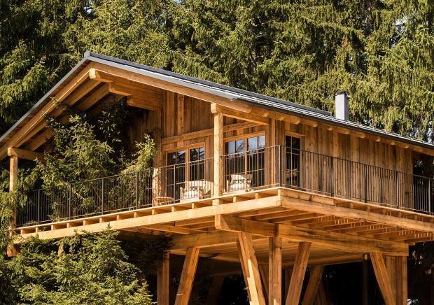 """Baumhäuser und Baumhaushotels: Naturnahes Baumhausdorf """"San Luis"""" in Südtirol"""