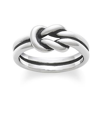 Lovers' Knot Ring: James Avery. Or Any other fat, stirling silver rings.