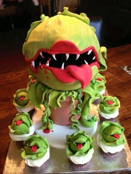 Little shop of horrors cake & cupcakes