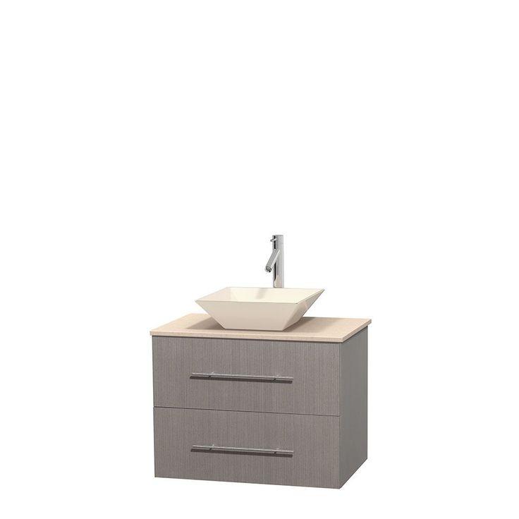 Picture Collection Website Wyndham Collection Centra inch Single Bathroom Vanity in Grey Oak No Mirror
