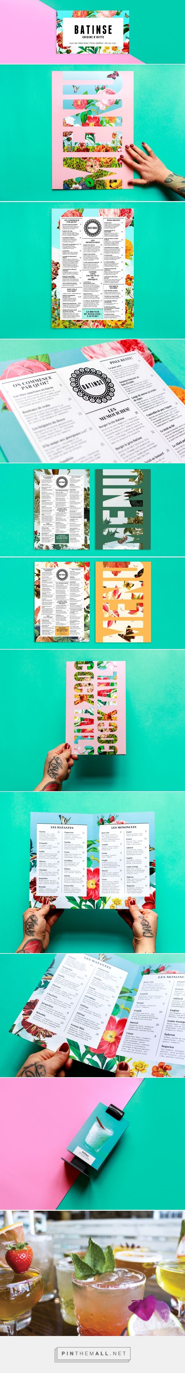 Batinse Restaurant Branding and Menu Design by Antoine Goulet | Fivestar Branding Agency – Design and Branding Agency & Inspiration Gallery